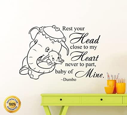 Amazoncom Ditooms Elephant Wall Decals Animals Quotes Rest Your