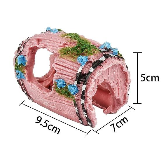 Oisee - Decoración para acuario, diseño de barril roto de resina, para pecera, acuario: Amazon.es: Productos para mascotas