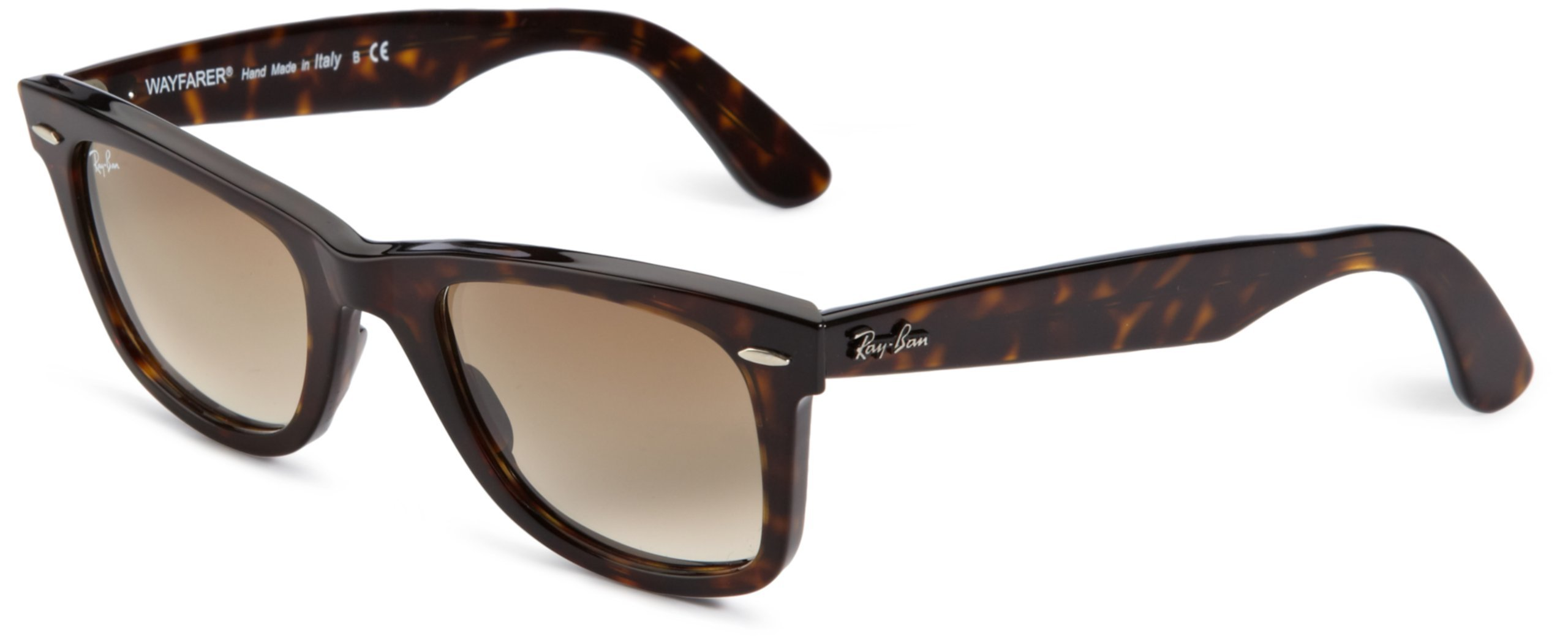 Ray-Ban 0RB2140 Original Wayfarer Sunglasses, Tortoise, 50mm by RAY-BAN