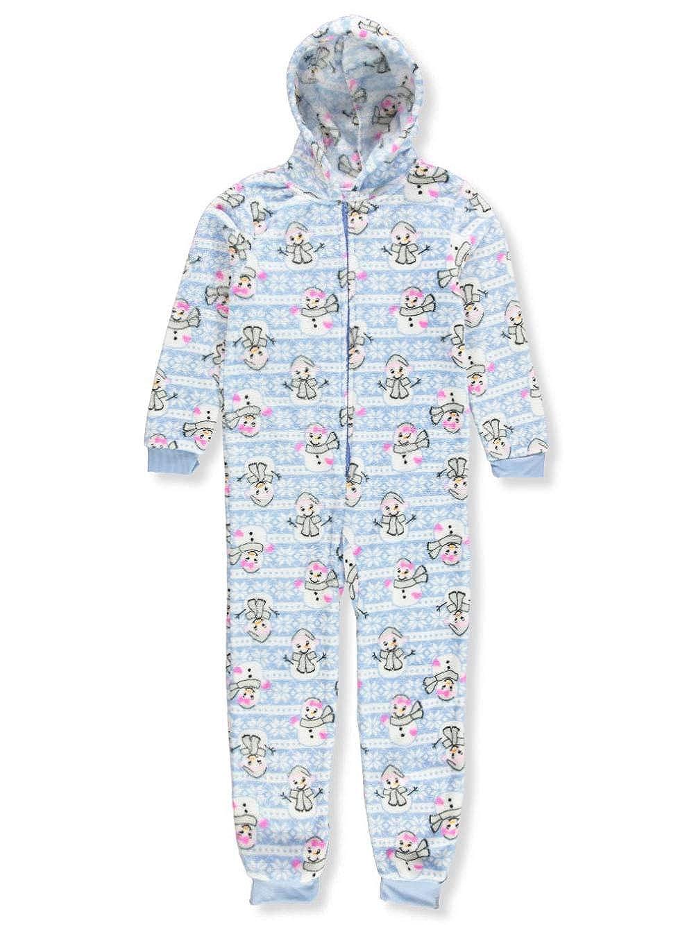SWEET N SASSY Girls 1-Piece Hooded Pajamas