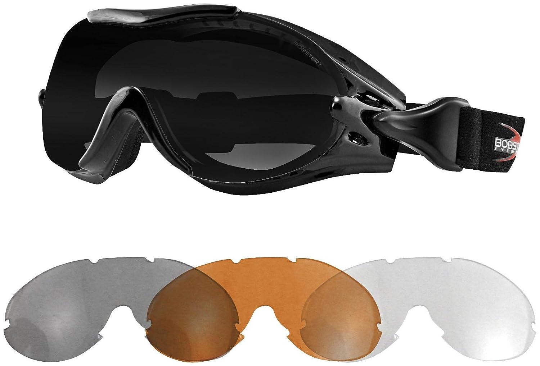 47b4d21171 Amazon.com  Bobster Eyewear PHOENIX OTG GOGGLE INTERCHNG Goggles Phoenix  BLK AF SMOKE