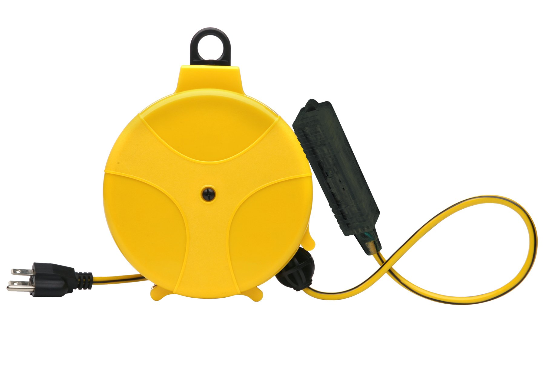 Retractable Extension Cord Reel Wheel Electric Power With