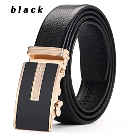 XUEXUE Mens Belt,Automatic Buckle Belt,Business Work Active Basic Leather,Comfortable Adjustable Casual Formal Belts,Casual Cowboy Wear /& Work Clothes Uniform