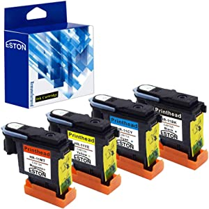 ESTON Remanufactured Printhead Replacement for 11 Printhead C4810A C4811A C4812A C4813A (Black,Cyan,Magenta,Yellow-4 Pack)