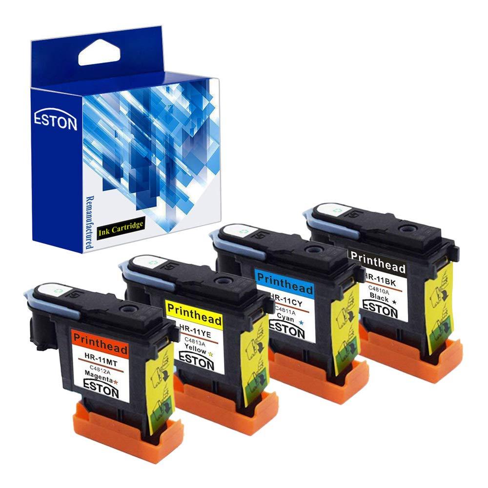 ESTON Cabezal de impresión (4 Unidades) de Repuesto para HP 11 ...