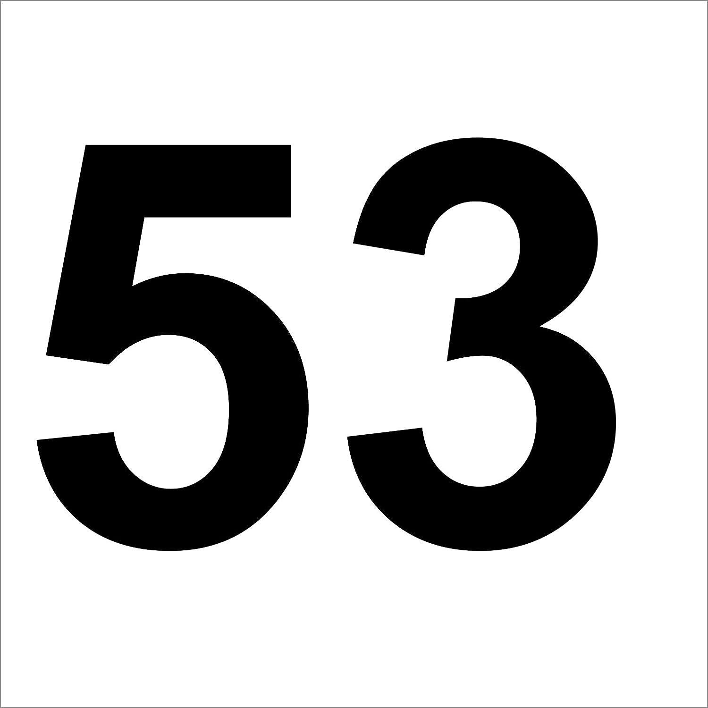 """Lot de 3 Wheelie Bin numéros Road Street Nom Et Numéro stickers 23.5/"""""""