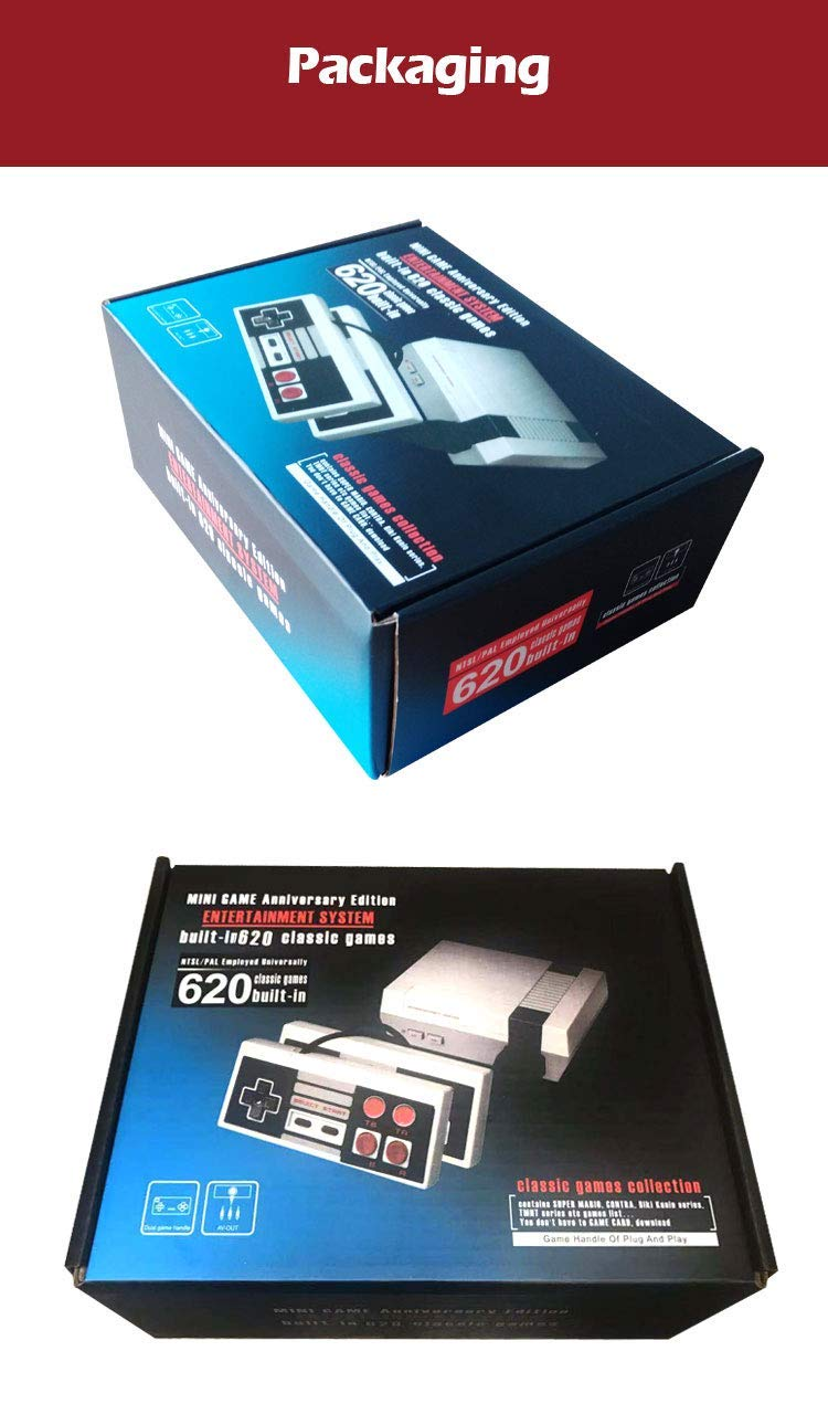 DigitCont Plug & Play Classic Mini Console, Built-in with 620 Classic Retro Games Dual Players Mode Console PAL NTSL Support TV Output Bring Back Childhood Memory by DigitCont (Image #7)
