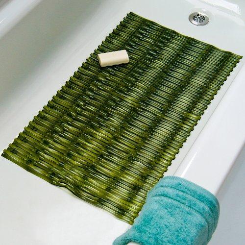 Bamboo Bath Mat - Green - Bamboo Cleaning Rugs