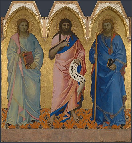 [The Polyster Canvas Of Oil Painting 'Nardo Di Cione Three Saints ' ,size: 30 X 32 Inch / 76 X 82 Cm ,this High Definition Art Decorative Prints On Canvas Is Fit For Home Office Decoration And Home Gallery Art And] (Cobra Kai Costume Large)
