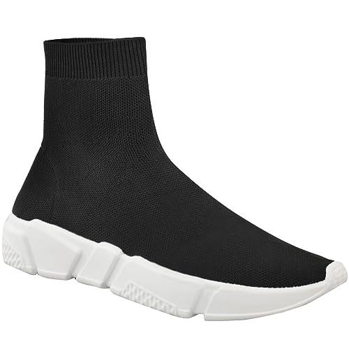 Fashion Thirsty heelberry Mujer Zapatillas Calcetines Corredores Cómodo Speed Punto Gimnasio Zapatos Nuevos Talla - Negro Punto, 39: Amazon.es: Zapatos y ...