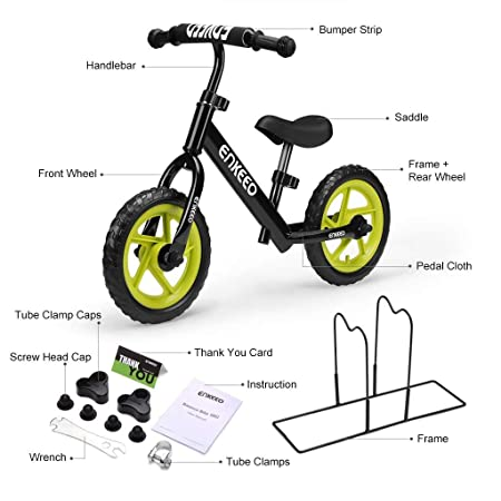 side facing enkeeo 12 sport balance bike and features to look out for on the balance bike