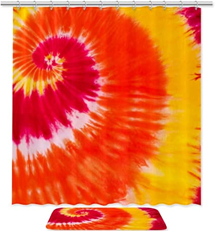 Bennigiry - Juego de cortinas de ducha con impresión de tinte ...