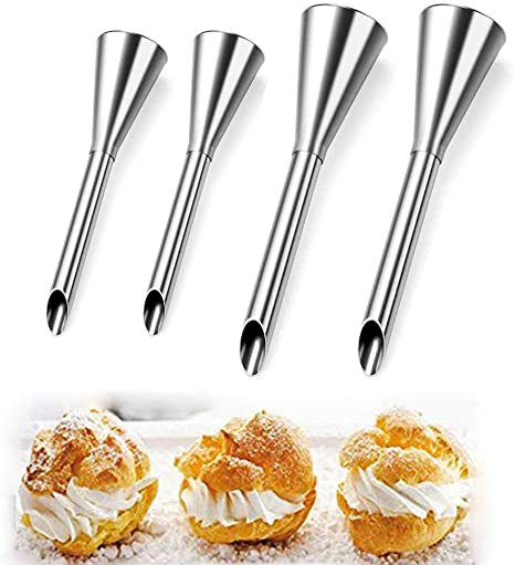 Steel Icing Piping Nozzles Cake Decorating Tool Pastry Tips Cream Puff Nozzle