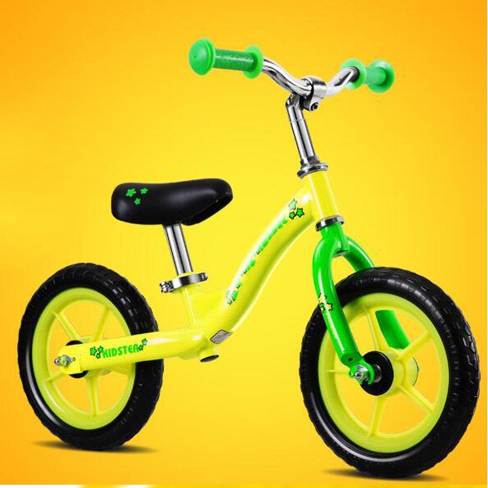 YANGFEI 子ども用自転車 子供のバランスの自転車2-3-6歳赤ちゃんのスリッパ/子供のおもちゃヨー車グライド幼児ウォーカーベビーウォーカー、 212歳 B07DWQKTF5 イエロー いえろ゜ イエロー いえろ゜