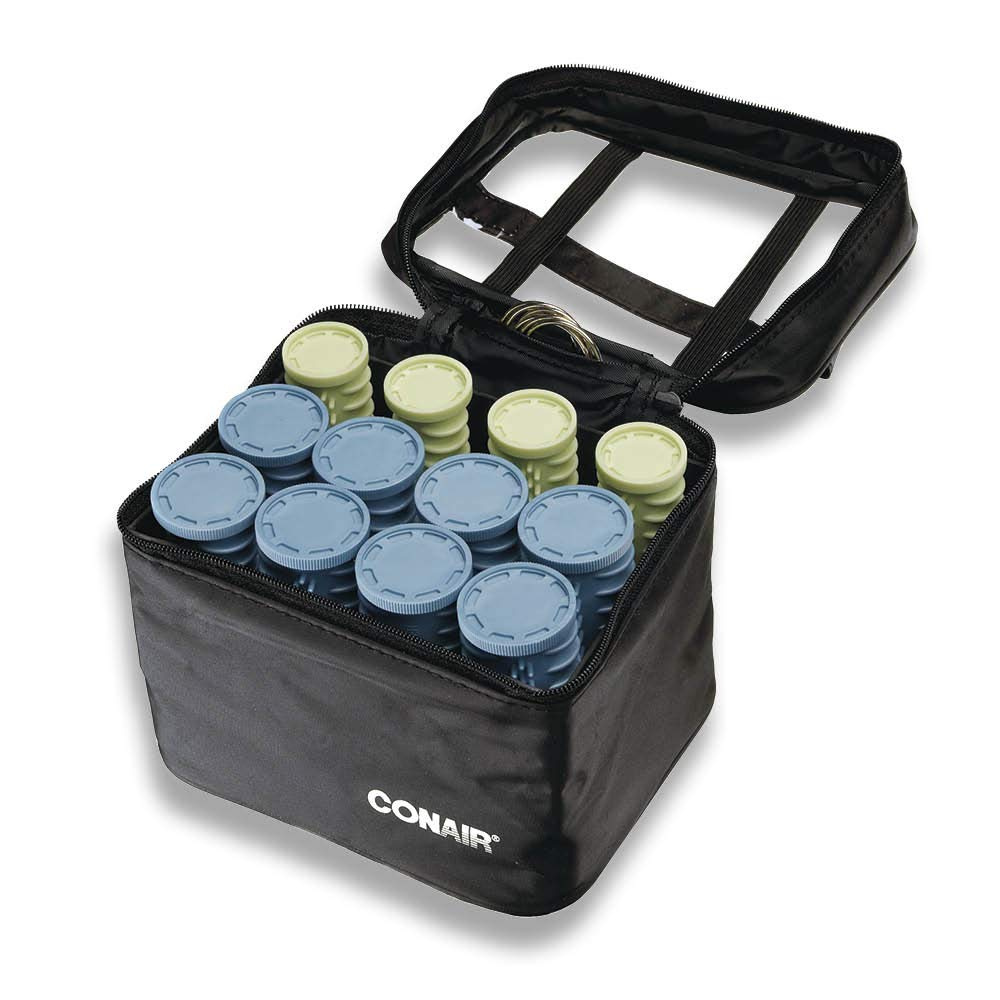 Conair Instant Heat Compact Hot Rollers w/Ceramic Techology; Black Case with Blue and Green Rollers by Conair