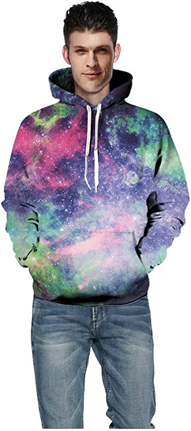 Fashion Hoodies,Unisex Realistic 3D Printed Hoodies for Men Women Cool Graphic Hooded Sweatshirt with Pockets