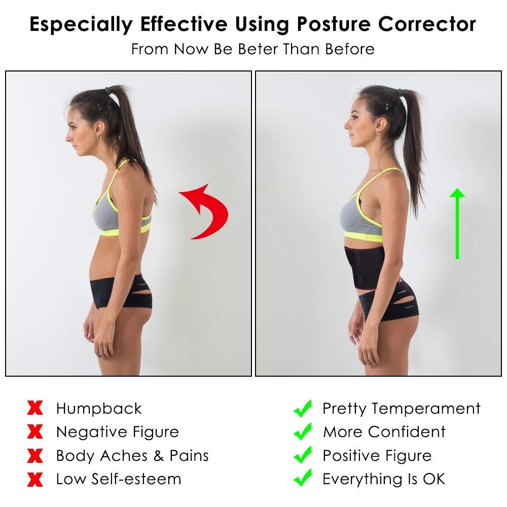 Espina Dorsal y Cuello XXL 41-44 Cintur/ón Trasero Mujeres CAVN Corrector de Postura Ajustable para Hombres Espalda Alivio del Dolor Postura Correctora Cintura Hombro Soporte Lumbar
