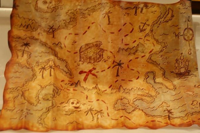 Ptit Clown 20019 Mapa pirata, 29 x 45 cm, plástico, multicolor: Amazon.es: Juguetes y juegos