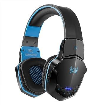 Auriculares Inalámbricos 32Ω, V4.1 Bluetooth para Computadora Portátil con Música De Juegos, Tiempo De Trabajo 8H, Tiempo De Carga 3H,Blue: Amazon.es: Hogar