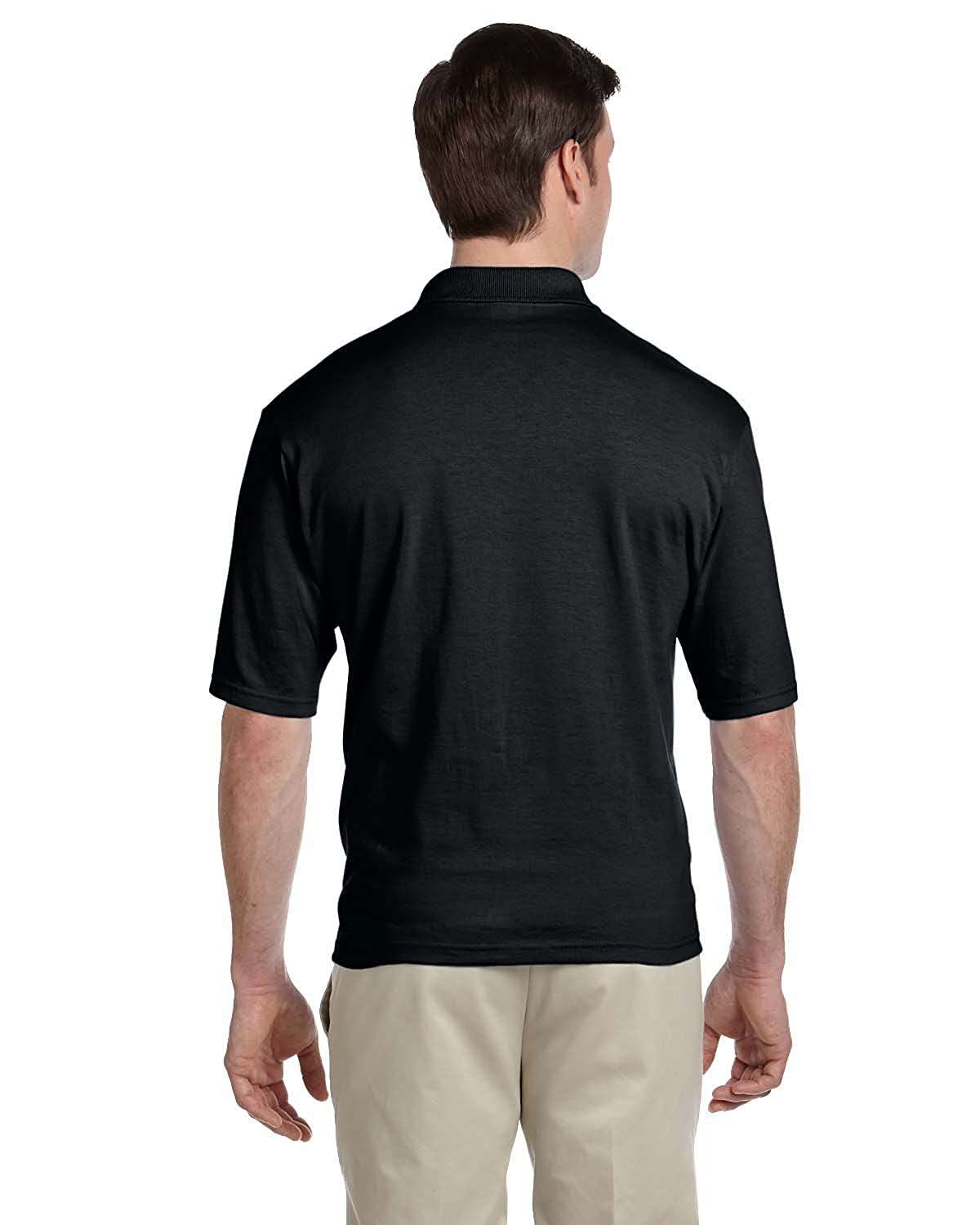 Jerzees Adult Jersey Pocket Polo with SpotShield - Black - M