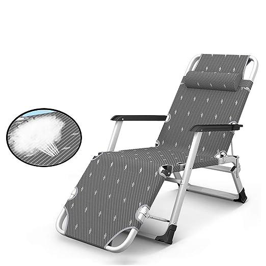 Aleación de Metal Tumbona reclinador Pesado del Patio Sillas ...