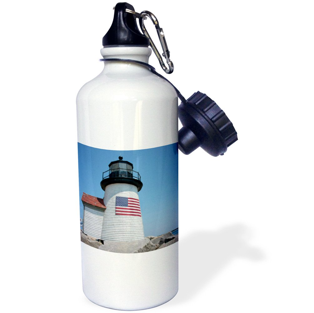 wb/_190219/_1 Multicolor Nantucket Brant Point Lighthouse Massachusetts 3dRose USA 21 oz 21oz -Sports Water Bottle