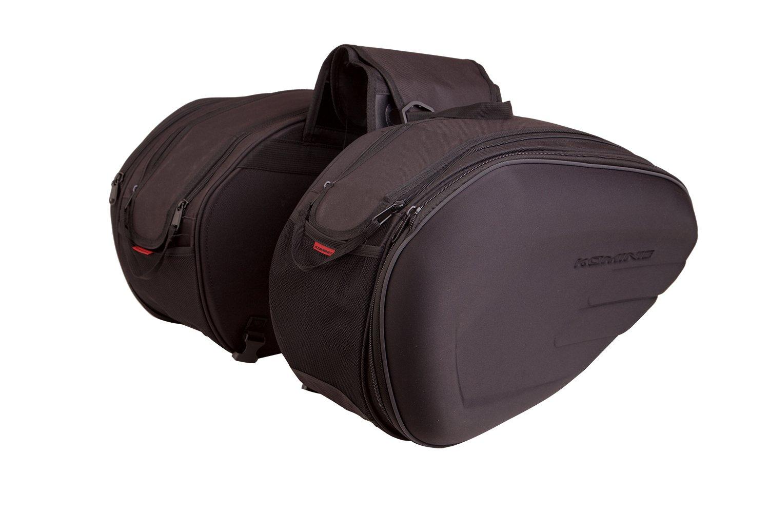 Auto Companion Motorrad-Packtasche Easy (1 Paar), halb starr, mit wasserdichten Ü berzü gen AUTOC-23