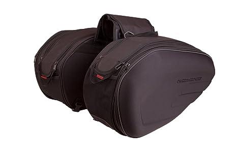Auto Companion - Alforjas para moto semirrígidas con cubierta impermeable, 1 par