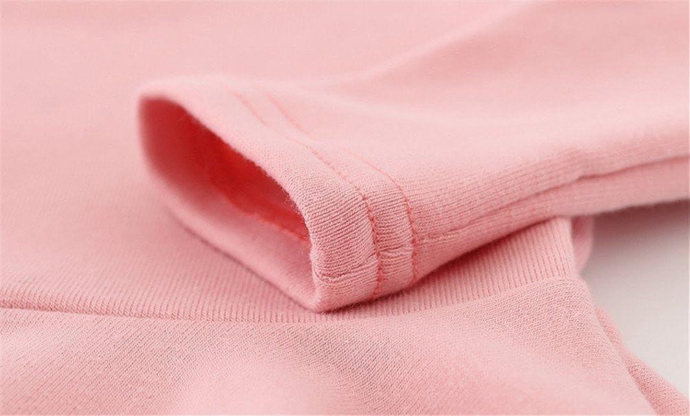 Csbks Toddler Baby Girls Long Sleeve Cotton Dress Solid Ruffle Tops