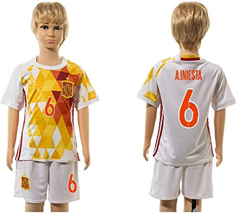 Top Venta de España 6 Andres Iniesta Away para niños Kid jóvenes ...