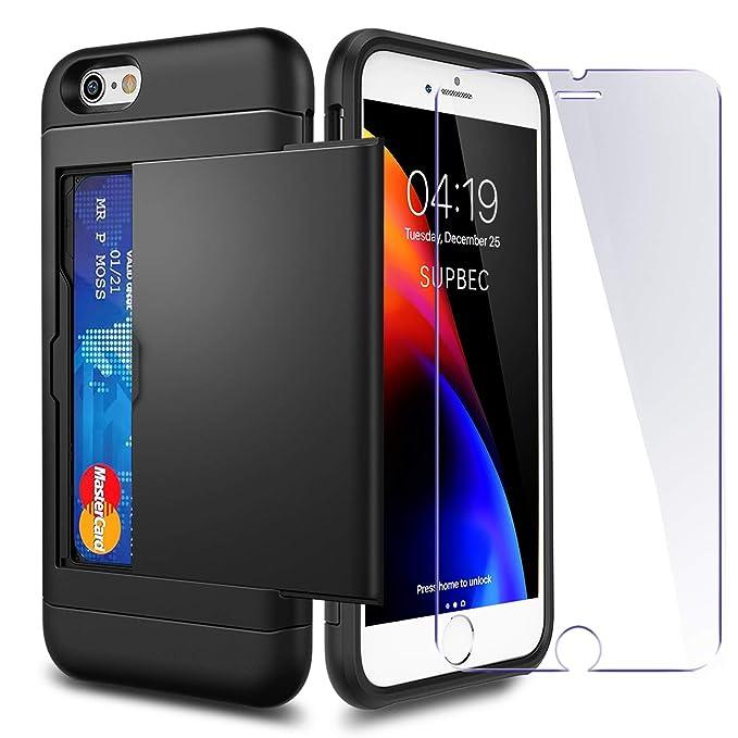 femme grand choix de 2019 profitez de la livraison gratuite Coque iPhone 6 / 6s Porte-Carte et[2 Protecteurs d'Écran en ...