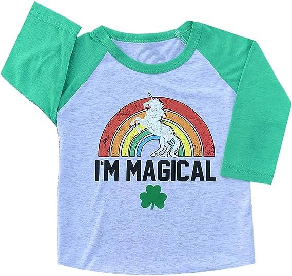 Hoodie Dabbing Unicorn Gift Saint Patricks Day Long Sleeve Sweatshirt Unicorn St Patricks Day Shirt Kids Toddler Girl Shamrock T-Shirt