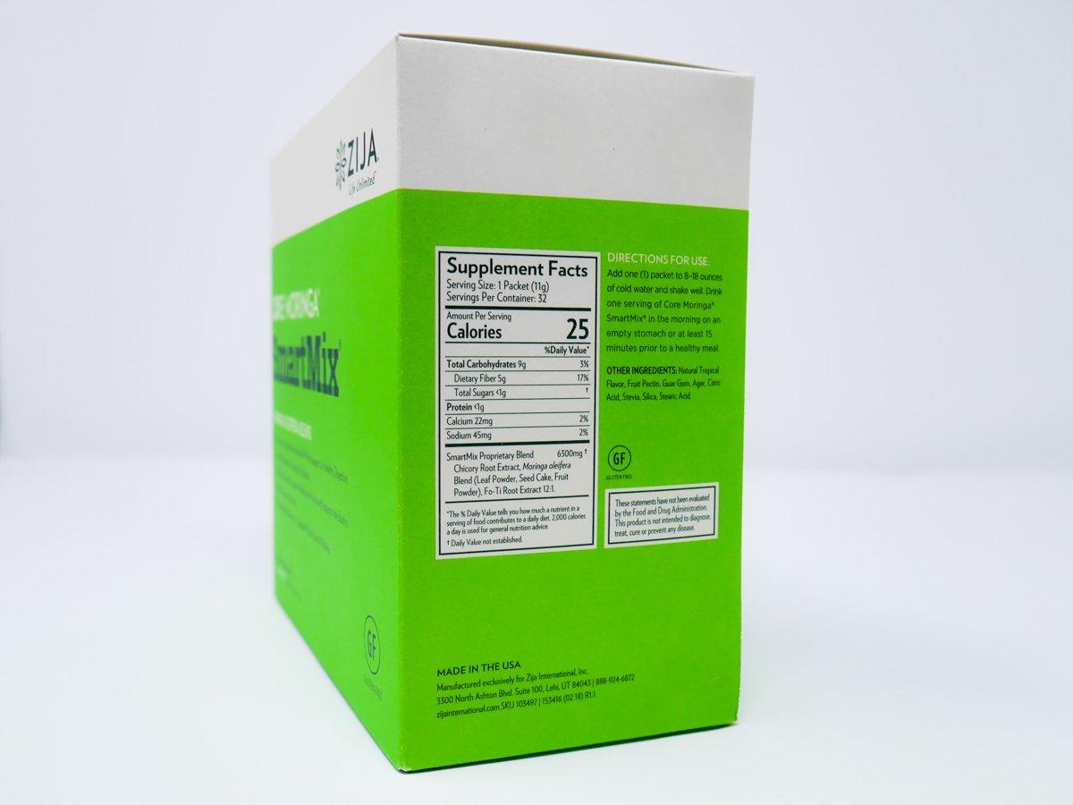 Zija SmartMix Enhanced Moringa Blend Instant Powder Drink - 32 Sachets by Zija (Image #2)