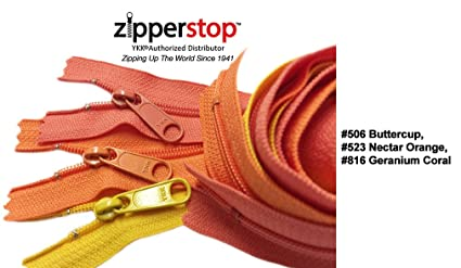ee8b9c67b697 Zipperstop Wholesale YKK® 24 Inch 3pcs Assorted Hottest Colors YKK®  4.5 Handbag  Zippers