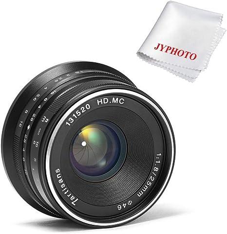7artisans 25mm F1.8 objetivo fijo de Manual para M4/3 Mount cámaras Panasonic Olympus: Amazon.es: Electrónica