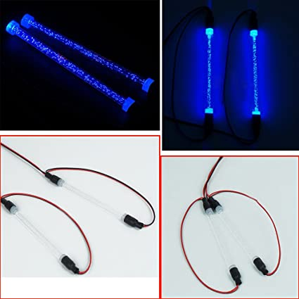 RC 1//10 CAR TRUCK BUGGY chassis body LED TUBE STRIP LIGHT COOL LOOK BLUE