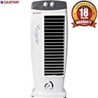 Castor Cool Breeze Tower Fan with 25 Feet Air Delivery, 4-Way Air Flow, High Speed, Timer & Anti Rust Body