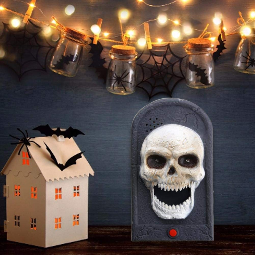 Pleasay Halloween Decorative LED Light Doorbell with Spooky Sounds Haunted House Prop Lamp Halloween Party Prop Decoration Benefit by Pleasay (Image #6)