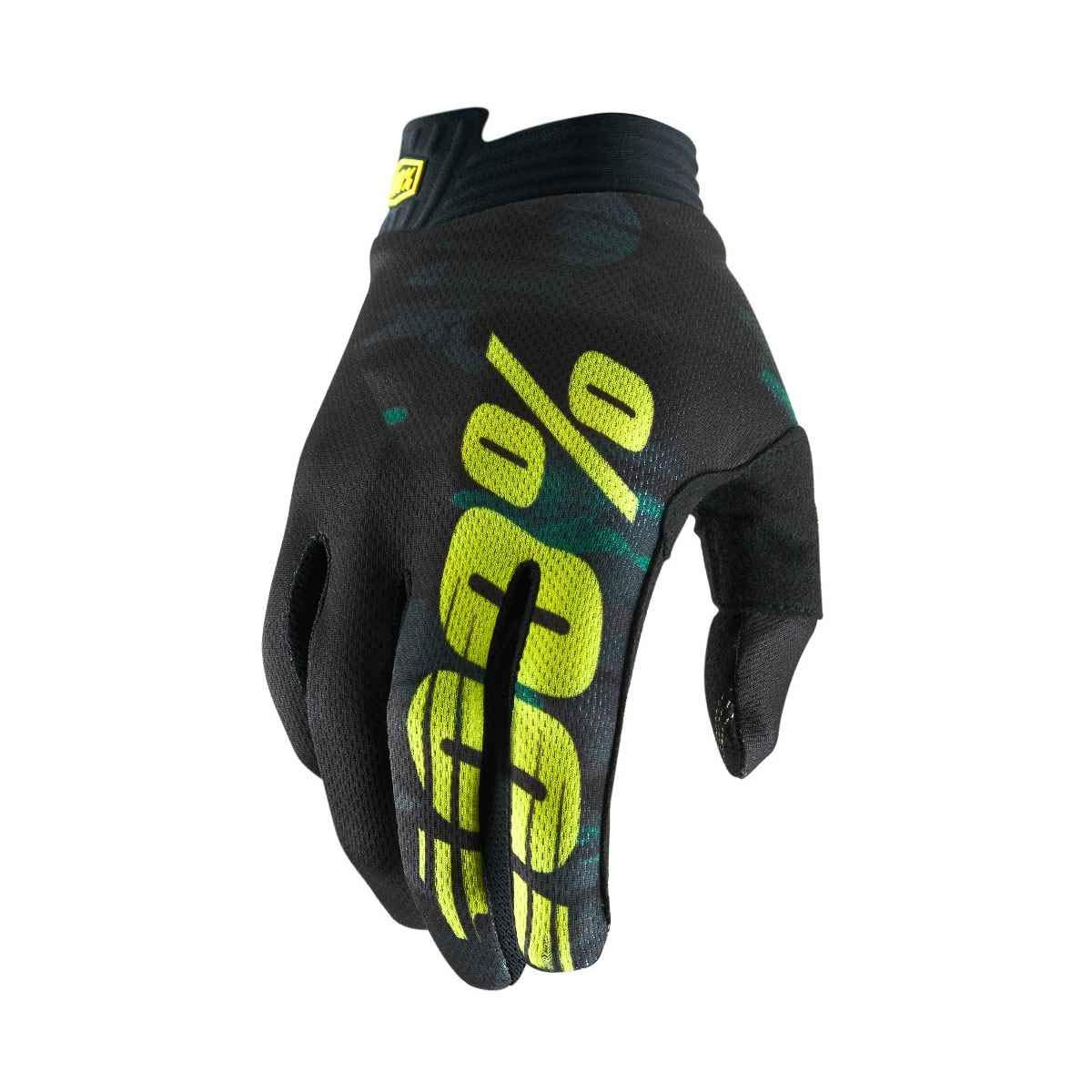100% Prozent iTrack Handschuhe Clarino MTB DH MX Motocross Enduro Offroad Quad, HU-GLO-0002, Farbe Schwarz Grau, Größe XL Größe XL HP-10015-057-13