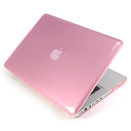 Incutex funda para ordenador portátil para Apple MacBook, rígida rosa transparente