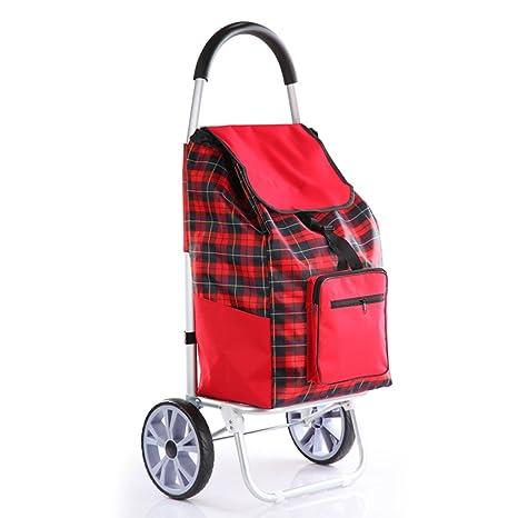 GTT Carro de Compras Trolley Remolque para el hogar Carrito de Equipaje Carrito Plegable Escalar un
