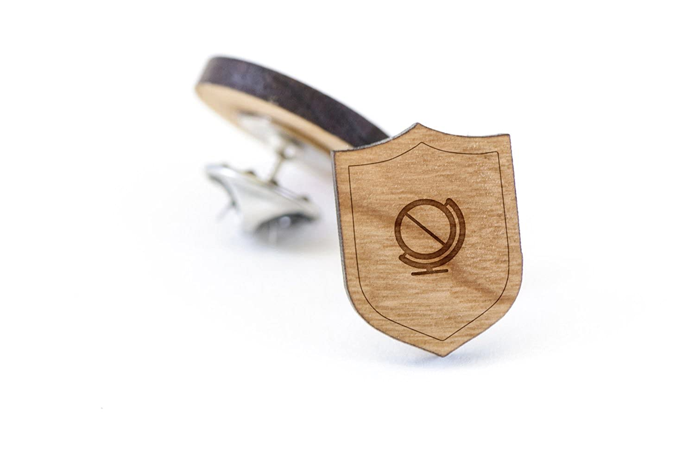 Equator Lapel Pin Wooden Pin