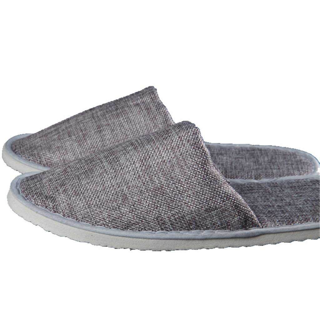 ZYY Disposable Slippers, Adult Non-Slip Gray Half-Pack Indoor Indoor Slippers (50 Pairs)