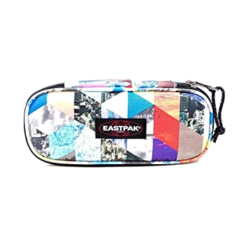Eastpak Estuche ovalitri, 5 x 22 x 9 cm, Coal (Gris), Triangle Bright