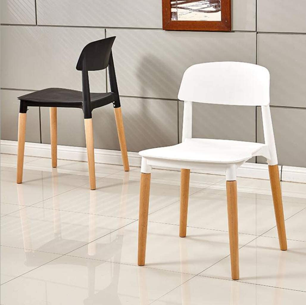 DAFREW Salle à Manger des chaises for la Cuisine et Le Salon, chaises Modernes du Milieu du siècle avec des Jambes en Bois (6 chaises) (Color : Yellow) Yellow