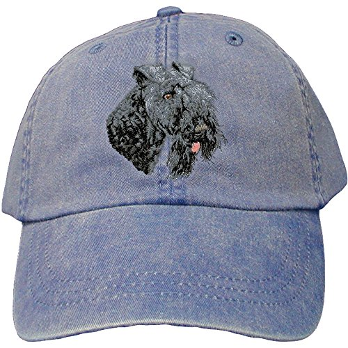 Cherrybrook Dog Breed Embroidered Adams Cotton Twill Caps - Royal Blue - Kerry Blue Terrier ()