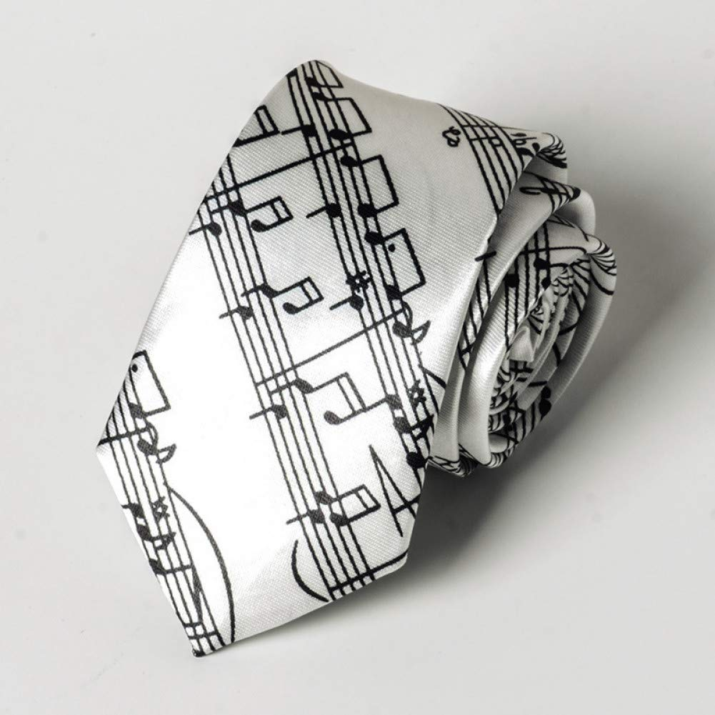DYDONGWL Corbata Fina Hombre,Moda Slim Tie Music Piano Student ...