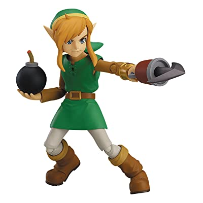 Good Smile Company The Legend of Zelda: A Link Between Worlds: Link Figma Action Figure (Deluxe Version): Toys & Games