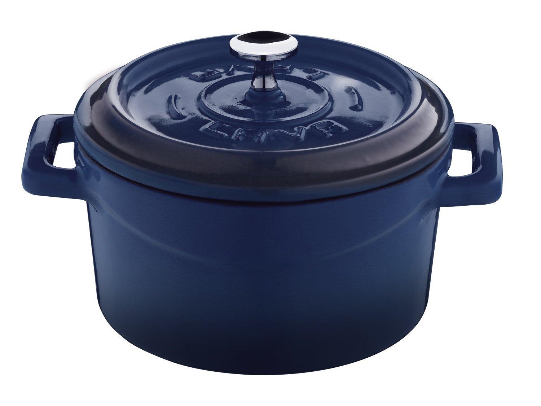 Lava Signature Enameled Cast-Iron Mini Dutch Oven - 12 ounce, Cobalt Blue by Lava Cookware (Image #1)