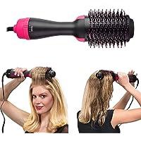 مجفف الشعر 2 في 1 متعدد الوظائف لتكثيف كثافة الشعر مع الدوران الساخن لتمويج الشعر ومكواة تصفيف الشعر